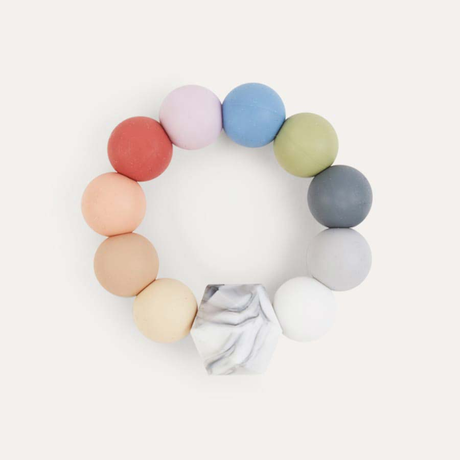 Rainbow Blossom & Bear Rainbow Teething Ring