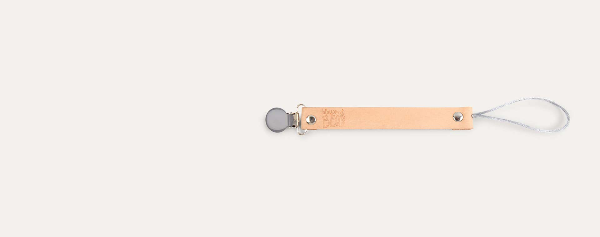 Grey Blossom & Bear Leather Dummy Clip