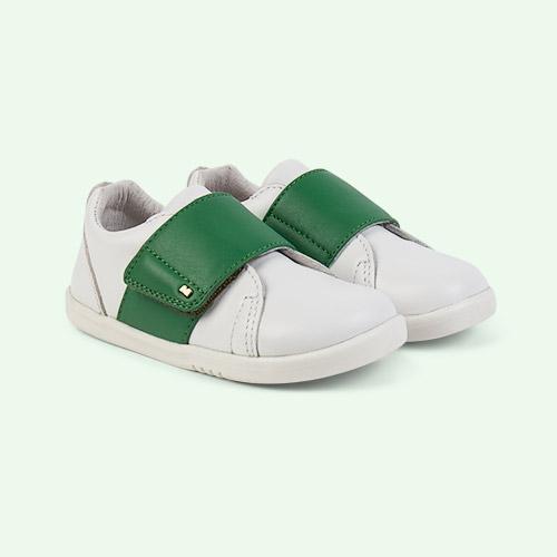 White Emerald Bobux I-Walk Boston Trainer