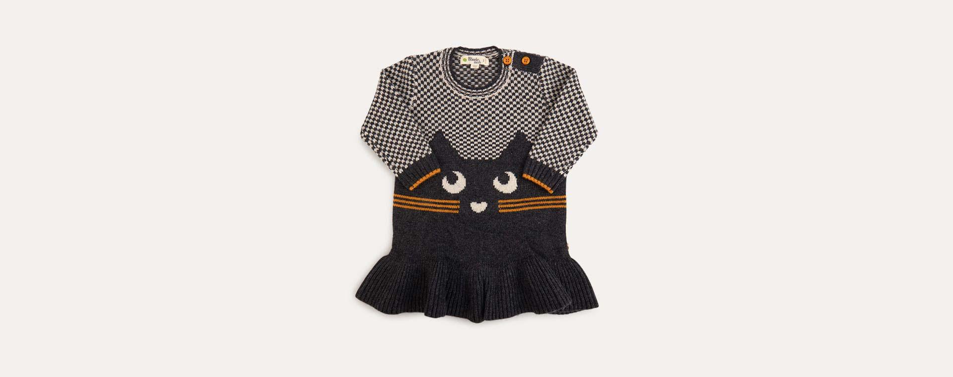 Grey The Bonnie Mob Cat Intarsia Dress