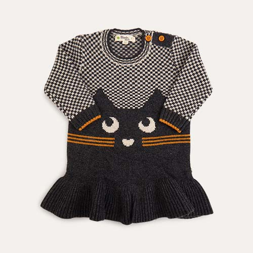 Grey The Bonnie Mob Cat Intarsia Dress