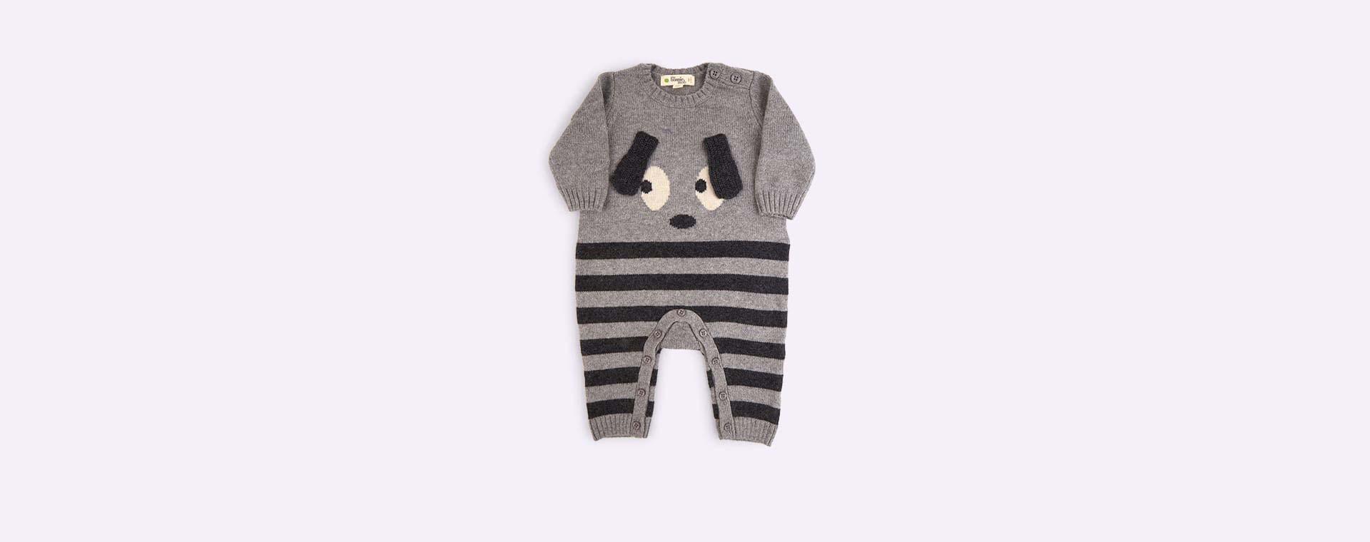 Grey The Bonnie Mob Roxy Bunny Ears Baby Playsuit
