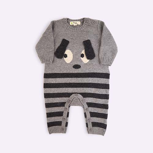 Grey The Bonnie Mob Roxy Bunny Ears Baby Playsuit