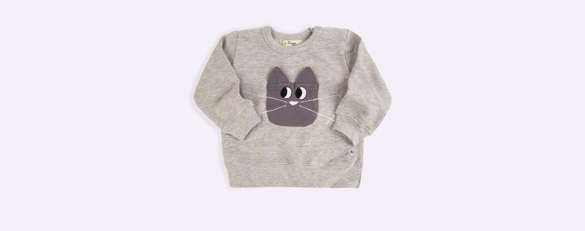 Grey The Bonnie Mob Cat Pocket Sweatshirt