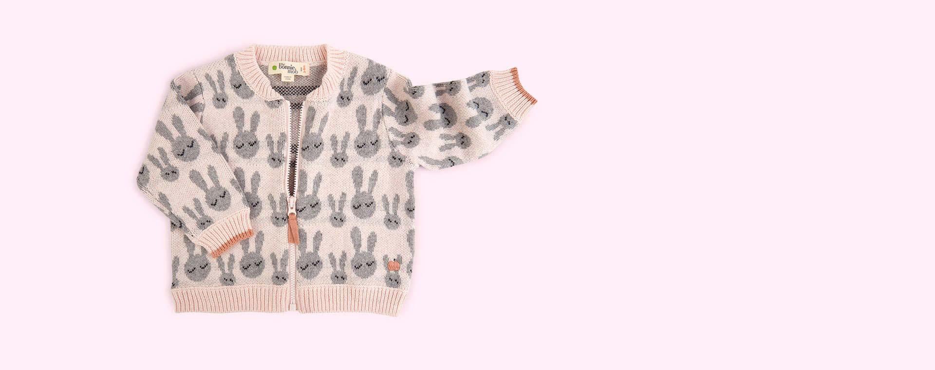 Pink The Bonnie Mob Bunny Jacquard Cardigan