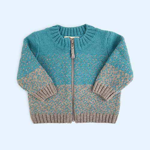 Teal The Bonnie Mob Chunky Knitted Cardigan