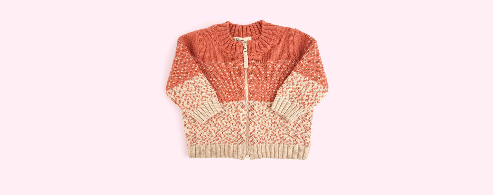 Pink The Bonnie Mob Chunky Knitted Cardigan