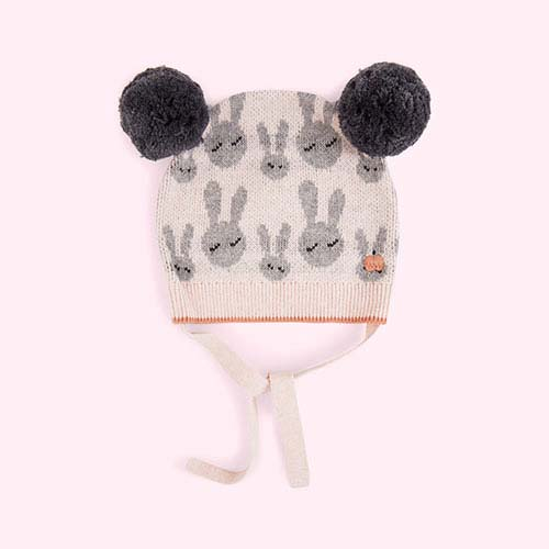 Pale Pink The Bonnie Mob Bunny Jacquard Pom Pom Hat