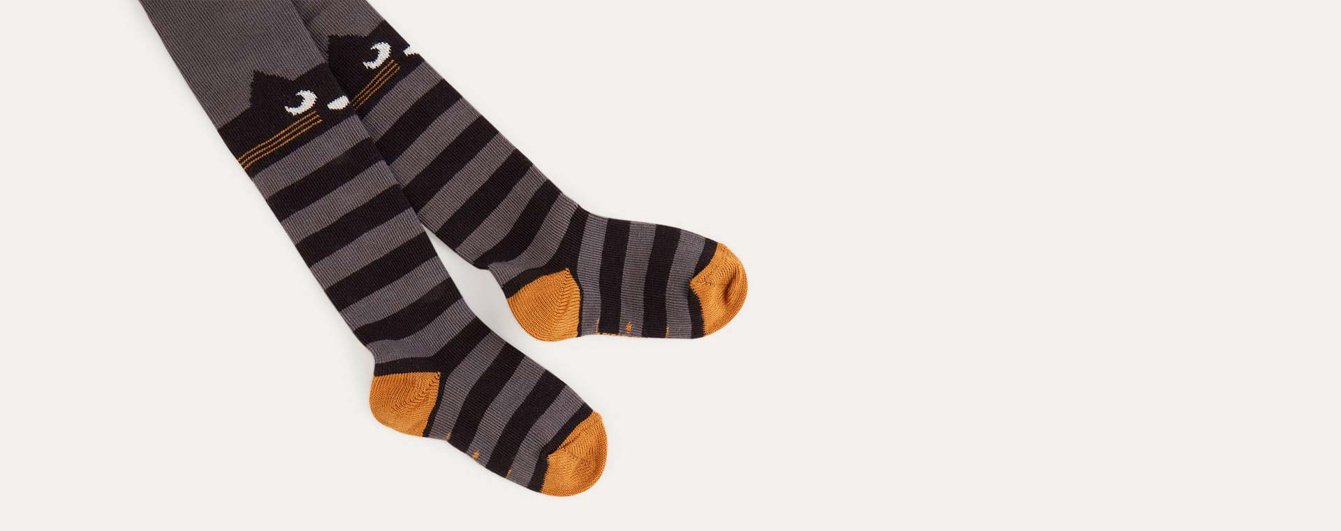 Grey The Bonnie Mob Stripey Cat Tights