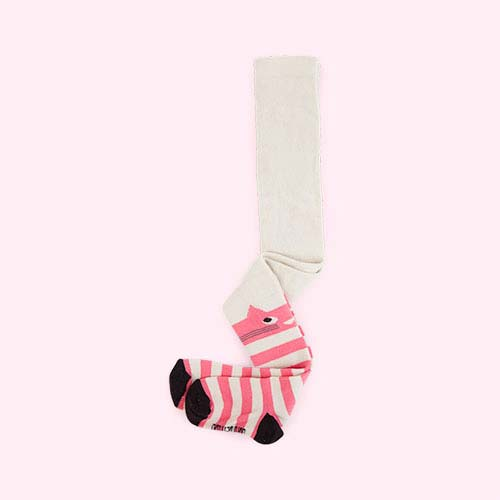 Pink The Bonnie Mob Stripey Cat Tights