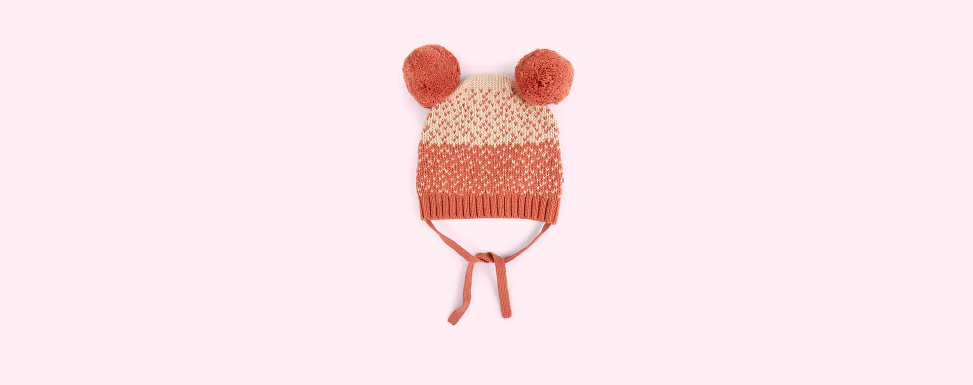 Pink The Bonnie Mob Chunky Knitted Hat With Pom Pom Ears