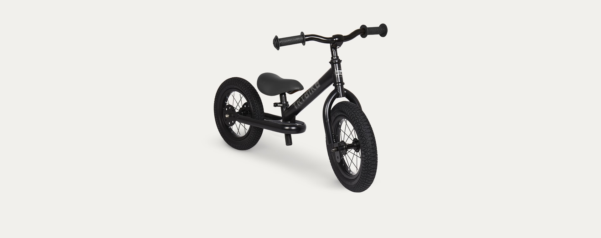 All Black TRYBIKE Steel 2-in-1 Trike