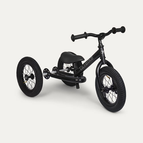 All Black TRYBIKE Steel 2-in-1 Trike
