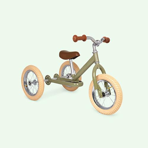 Green Vintage TRYBIKE Steel 2-in-1 Trike