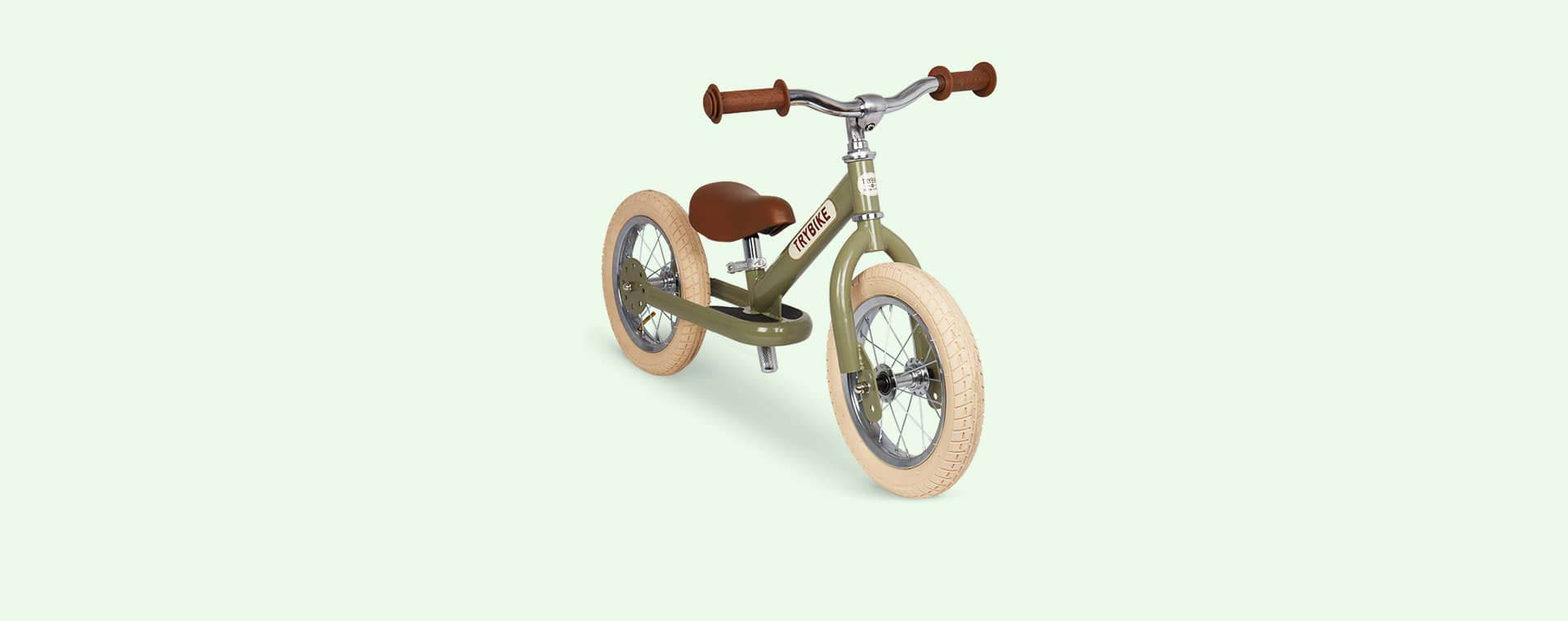 Green Vintage TRYBIKE Steel 2-in-1 Trike