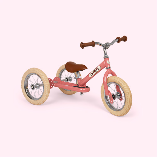 Pink TRYBIKE Steel 2-in-1 Trike