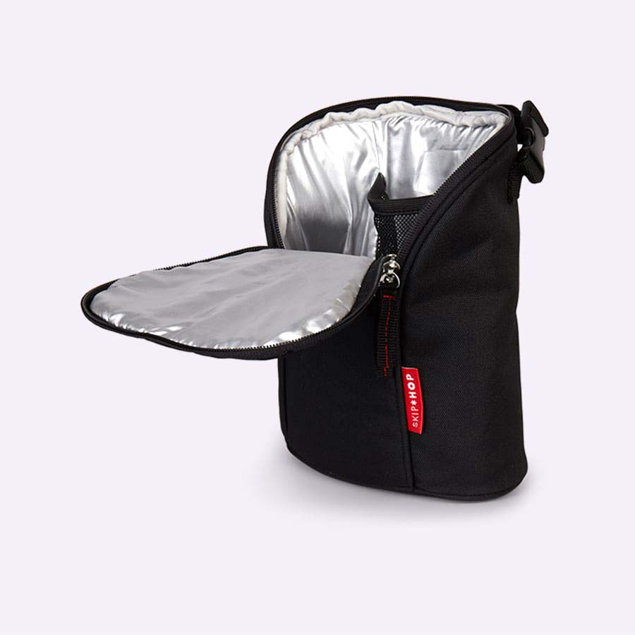 Black Skip Hop Grab & Go Double Bottle Bag