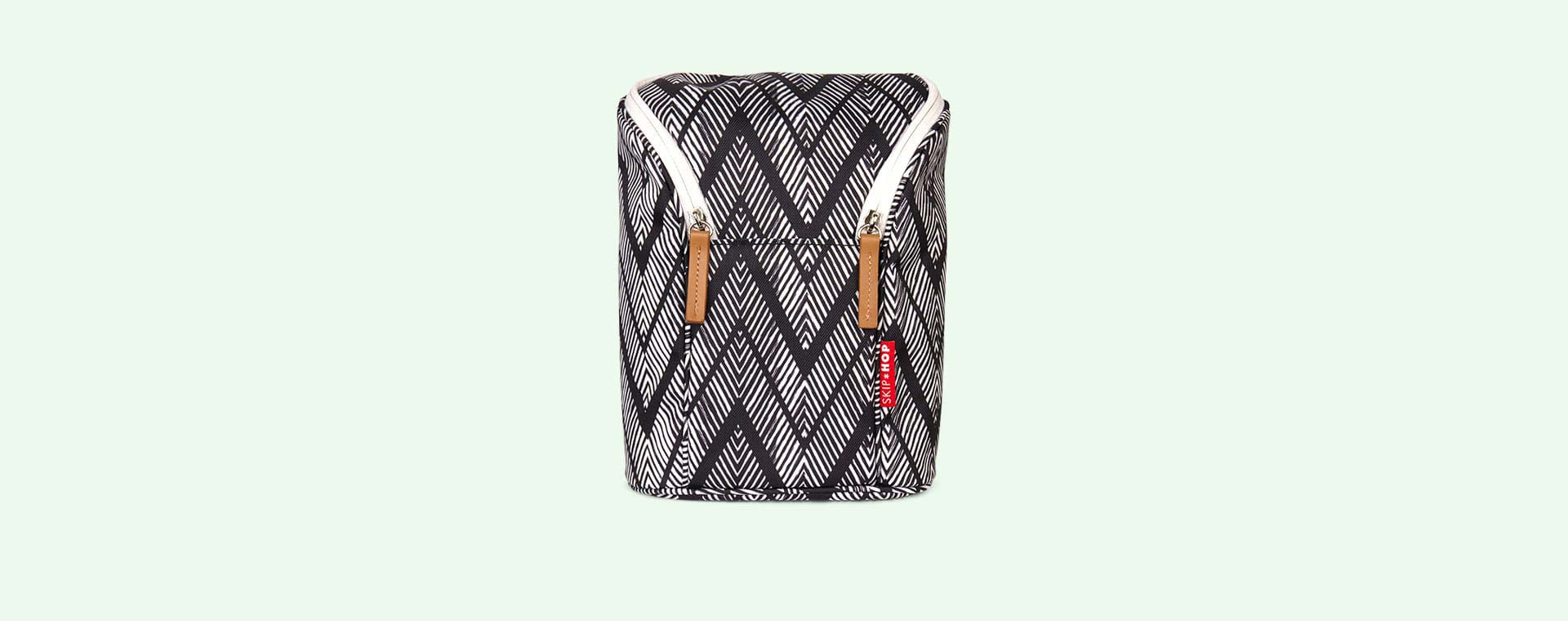 Zig Zag Zebra Skip Hop Grab & Go Double Bottle Bag