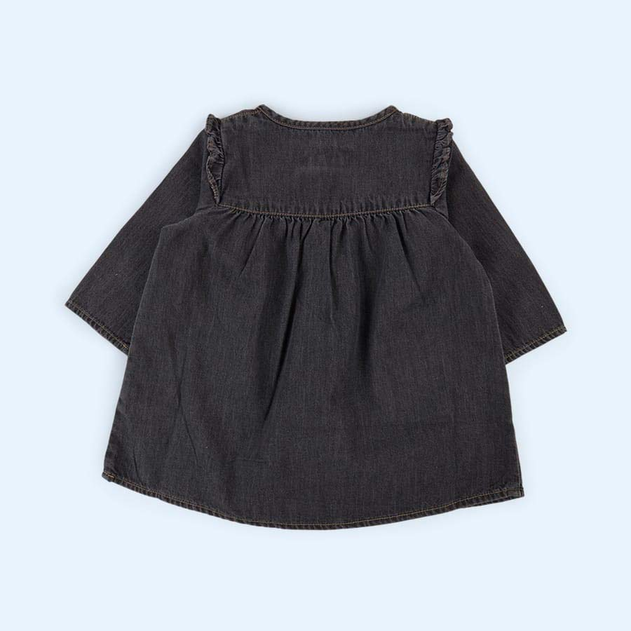 Grey Arsene Et Les Pipelettes Washed Denim Dress