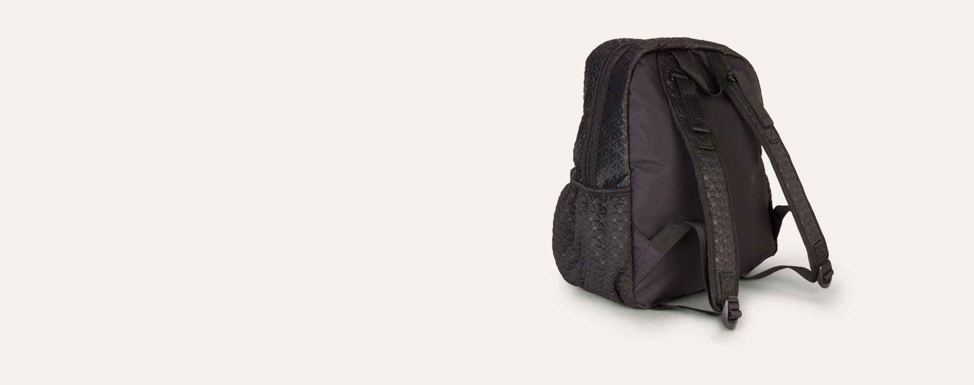 Black Babymel Luna Ultra Lite Embossed Scuba Backpack