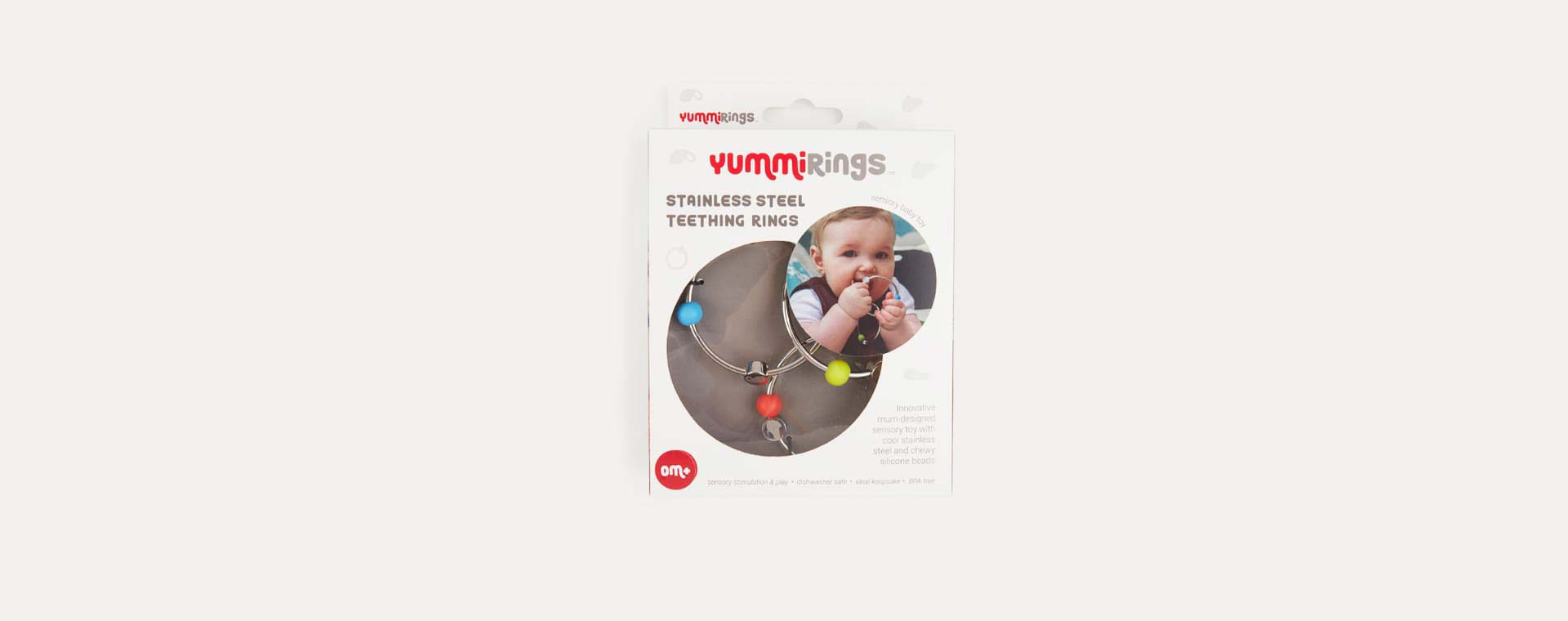 Silver Yummikeys Stainless Steel Teething Rings