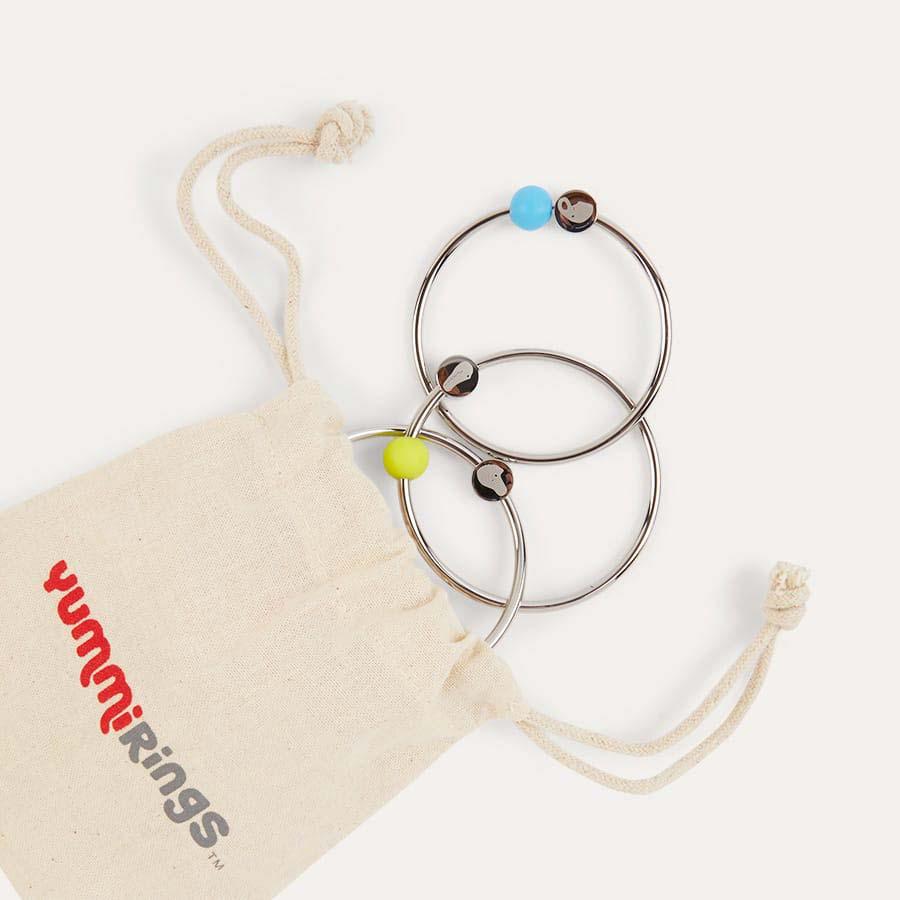 Silver Yummikeys Stainless Steel Teething Rings