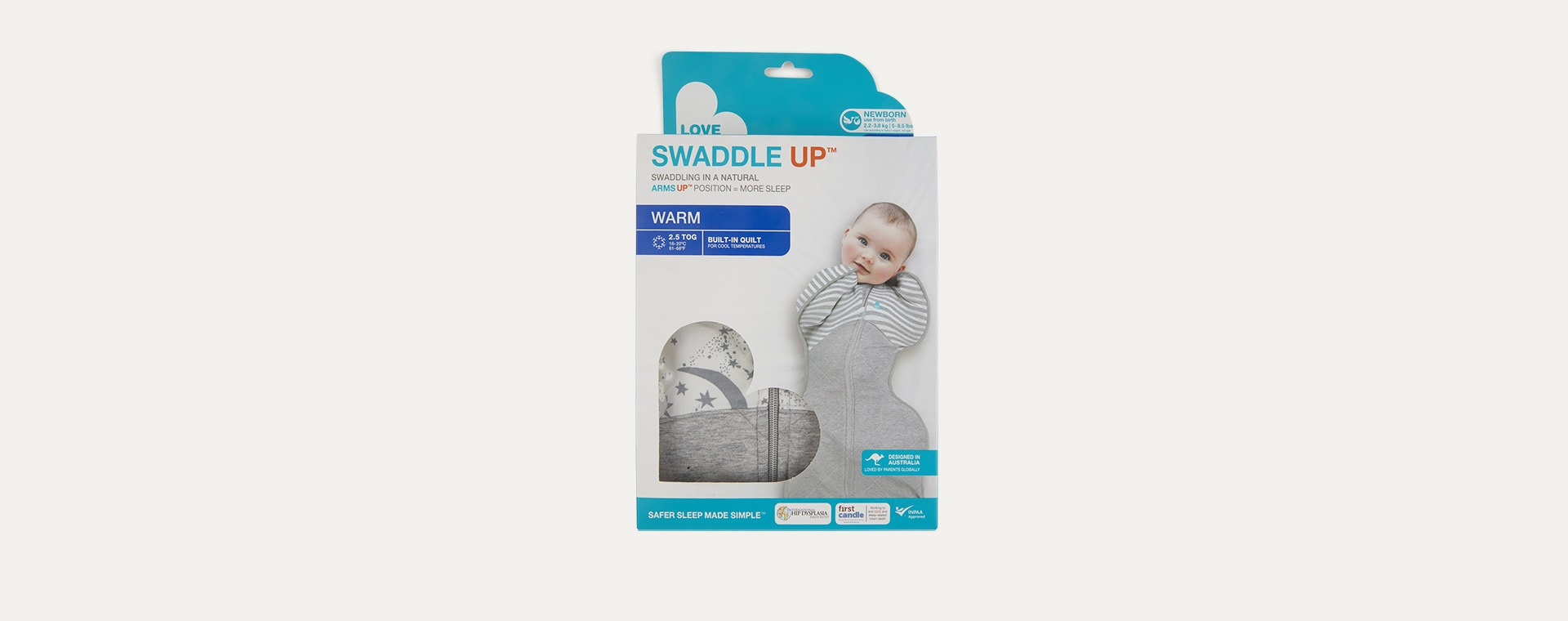 Moon Stars Love To Dream Swaddle UP Warm 2.5 Tog Sleeping Bag