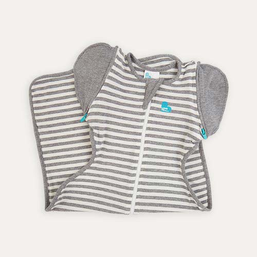Grey Stripe Love To Dream Swaddle Up 50/50 Original Transitional 1.0 Tog Sleeping Bag