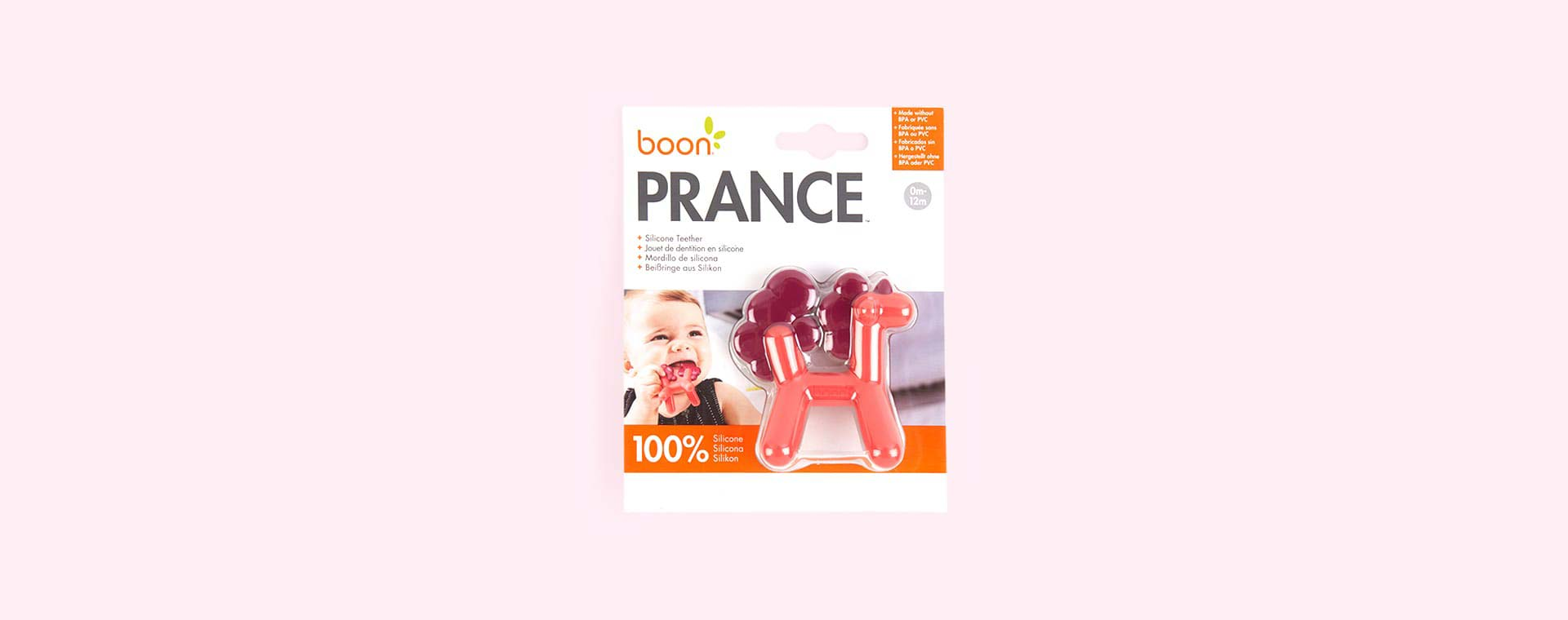 Pink Boon PRANCE Unicorn Teether