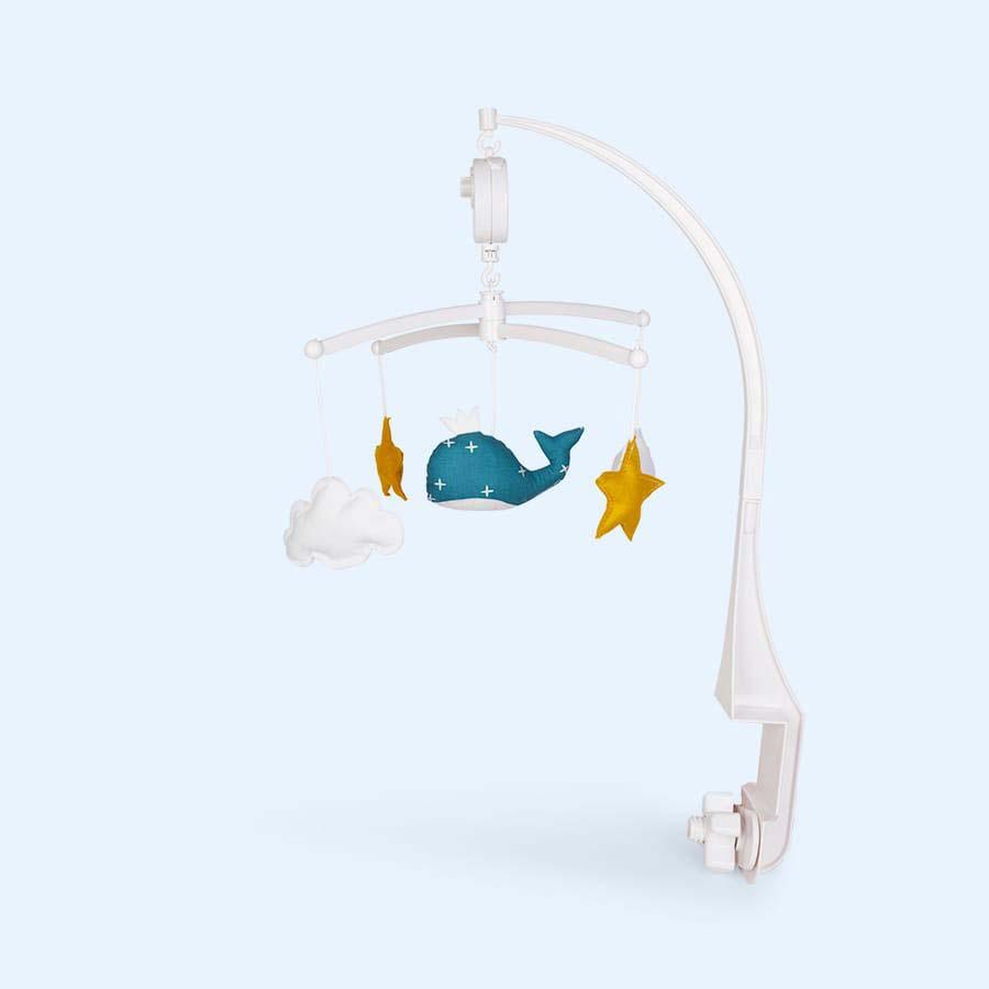 Blue Pouce Et Lina Whale Mobile