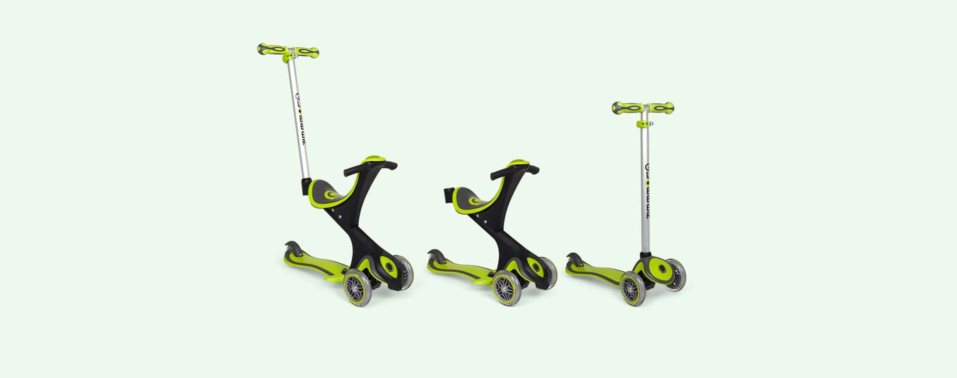 Lime Green Globber Evo Comfort Scooter