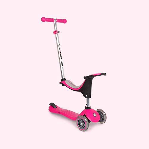 Deep Pink Globber Evo 4-in-1 Scooter