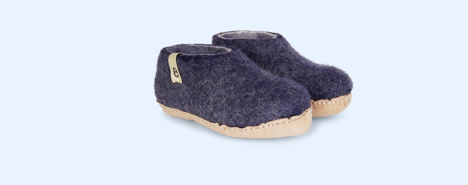 Classic Blue Egos Copenhagen Slipper Shoe