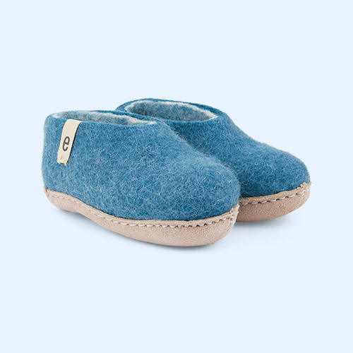 Sea Blue Egos Copenhagen Slipper Shoe
