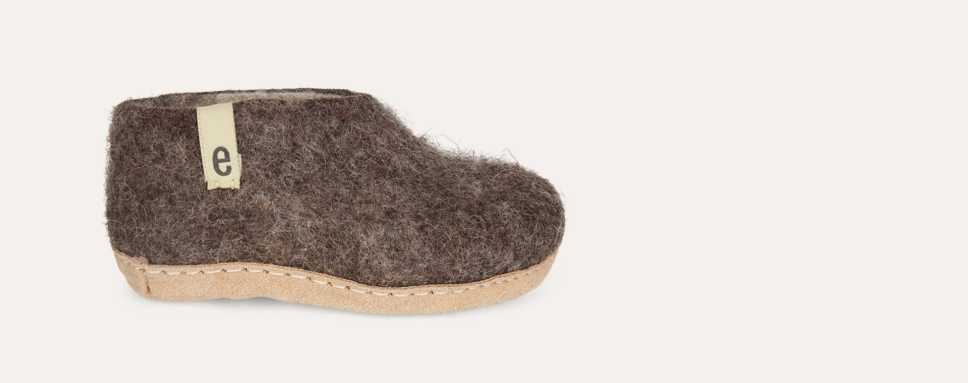 Natural Brown Egos Copenhagen Slipper Shoe