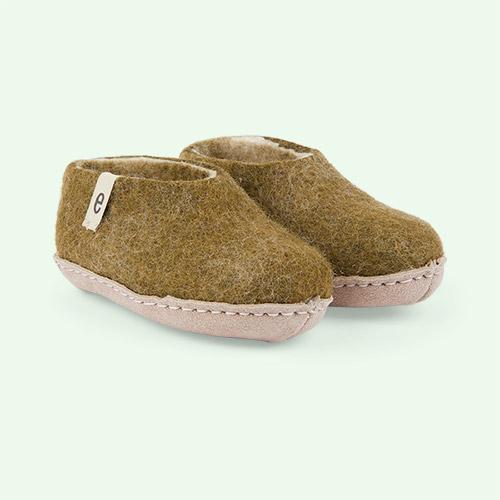 Moss Green Egos Copenhagen Slipper Shoe