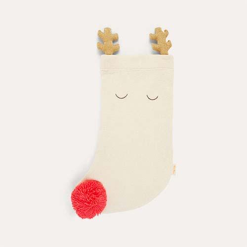 Neutral Meri Meri Knitted Reindeer Stocking
