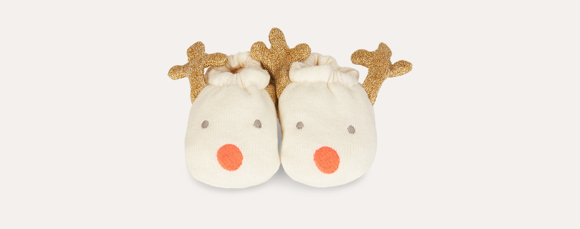 Neutral Meri Meri Reindeer Booties