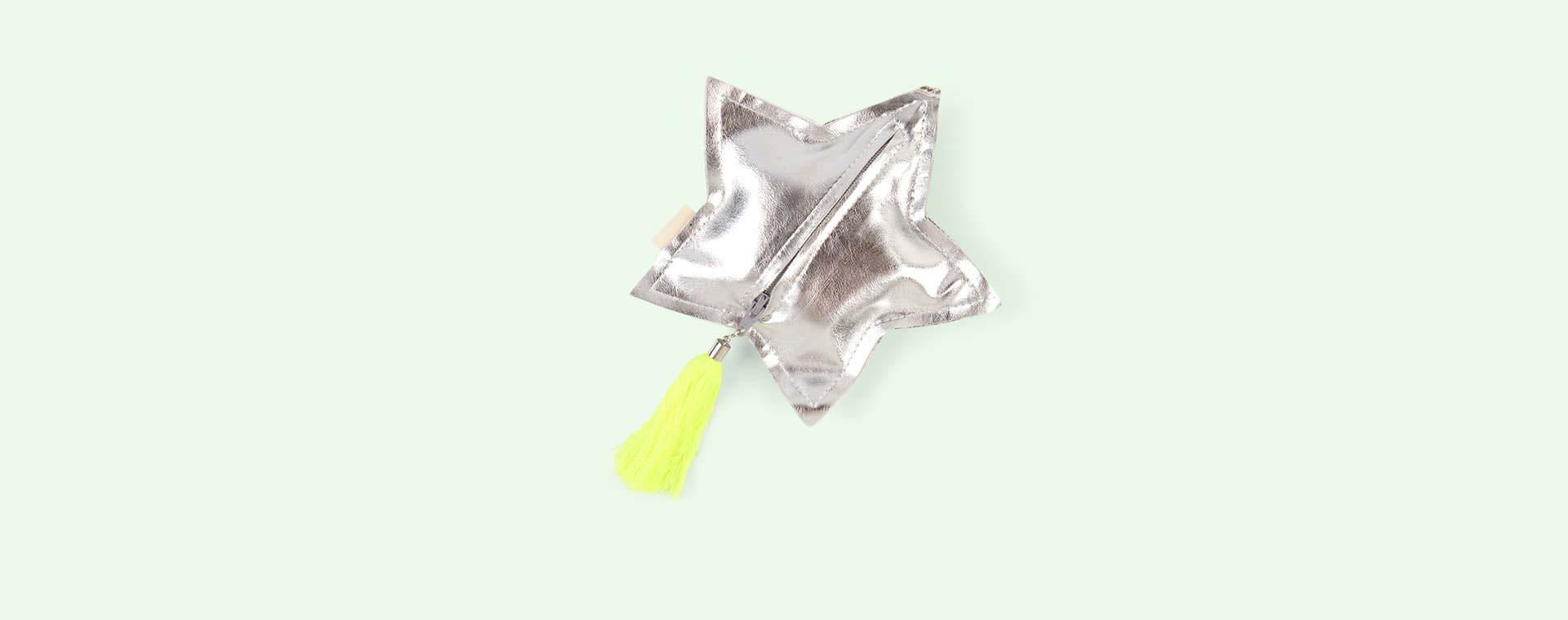 Silver Glitter Meri Meri Glitter Star Purse