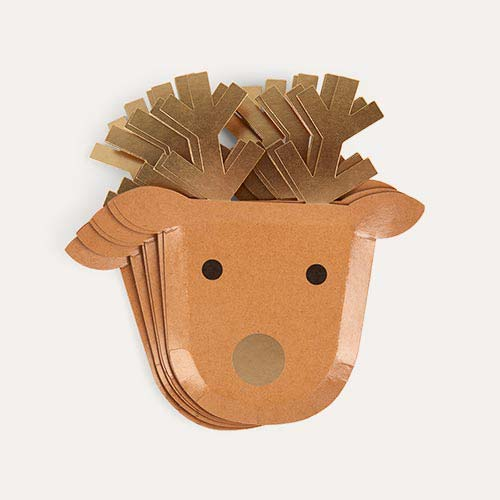 Brown Meri Meri Reindeer Paper Plates
