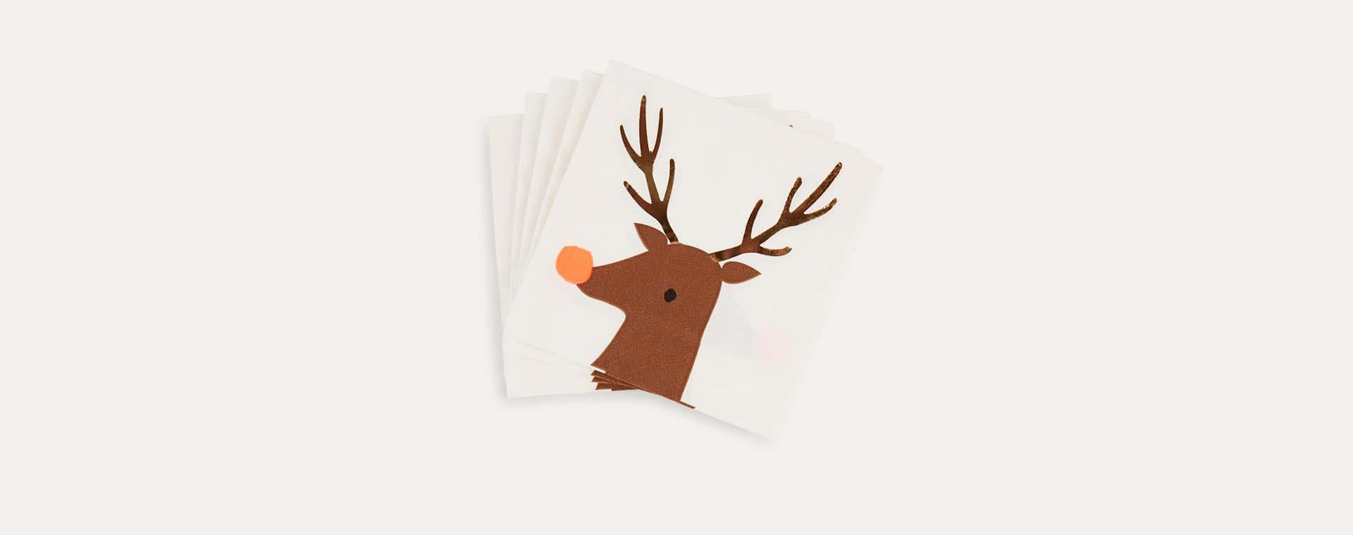Clear Meri Meri Reindeer Napkins