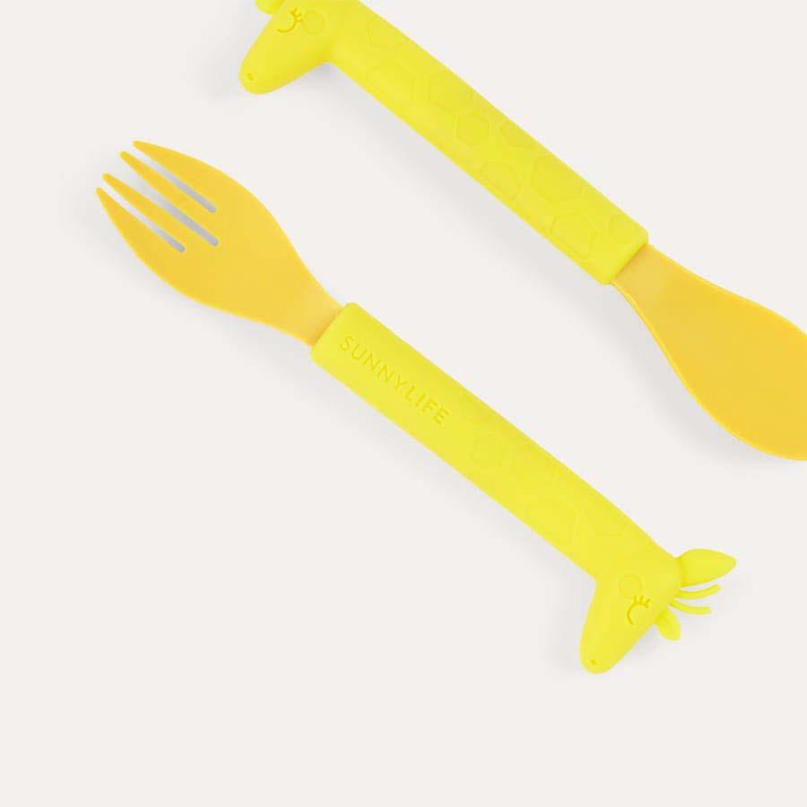 Giraffe Sunnylife Fork And Spoon Set