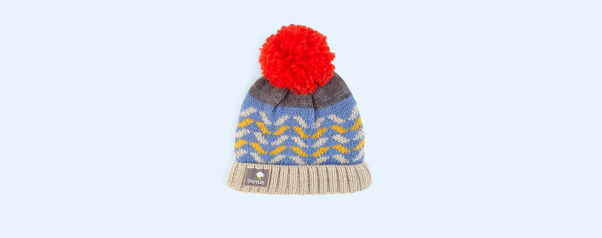 Flame Denim Bernie and The Beanpole Bobble Hat