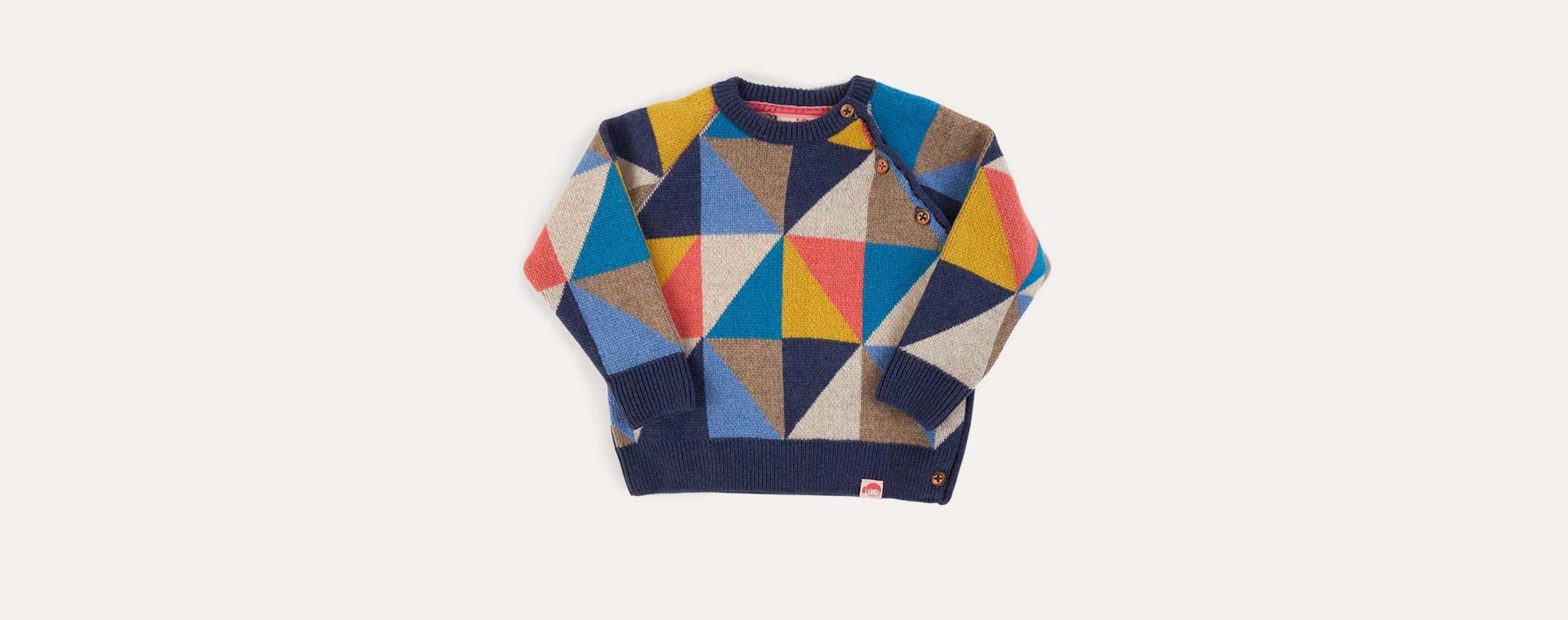 Multi Tootsa Kasumi Knitted Baby Jumper
