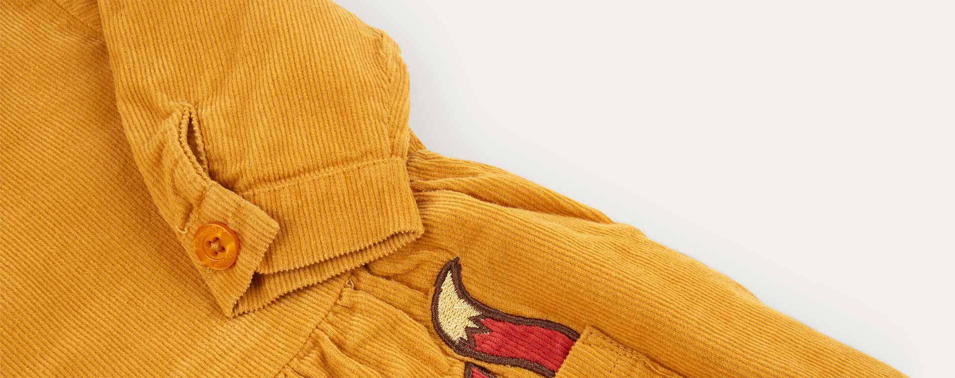 Mustard Tootsa Classic Corduroy Smock Dress