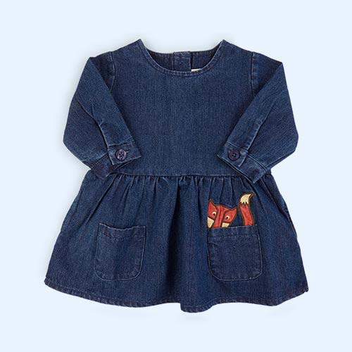 Blue Tootsa Classic Denim Smock Dress