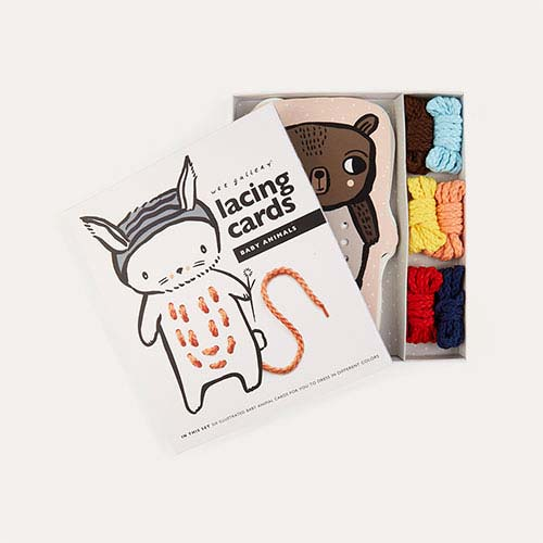 Multi Wee Gallery Baby Animal Lacing Cards
