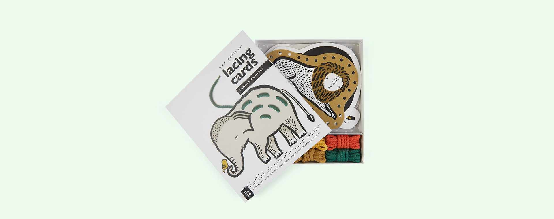 Jungle Wee Gallery Baby Animal Lacing Cards