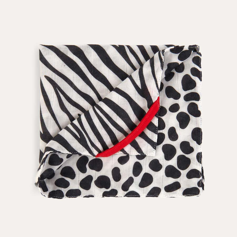 Zebra/Dalmation Etta Loves Muslin Washcloth