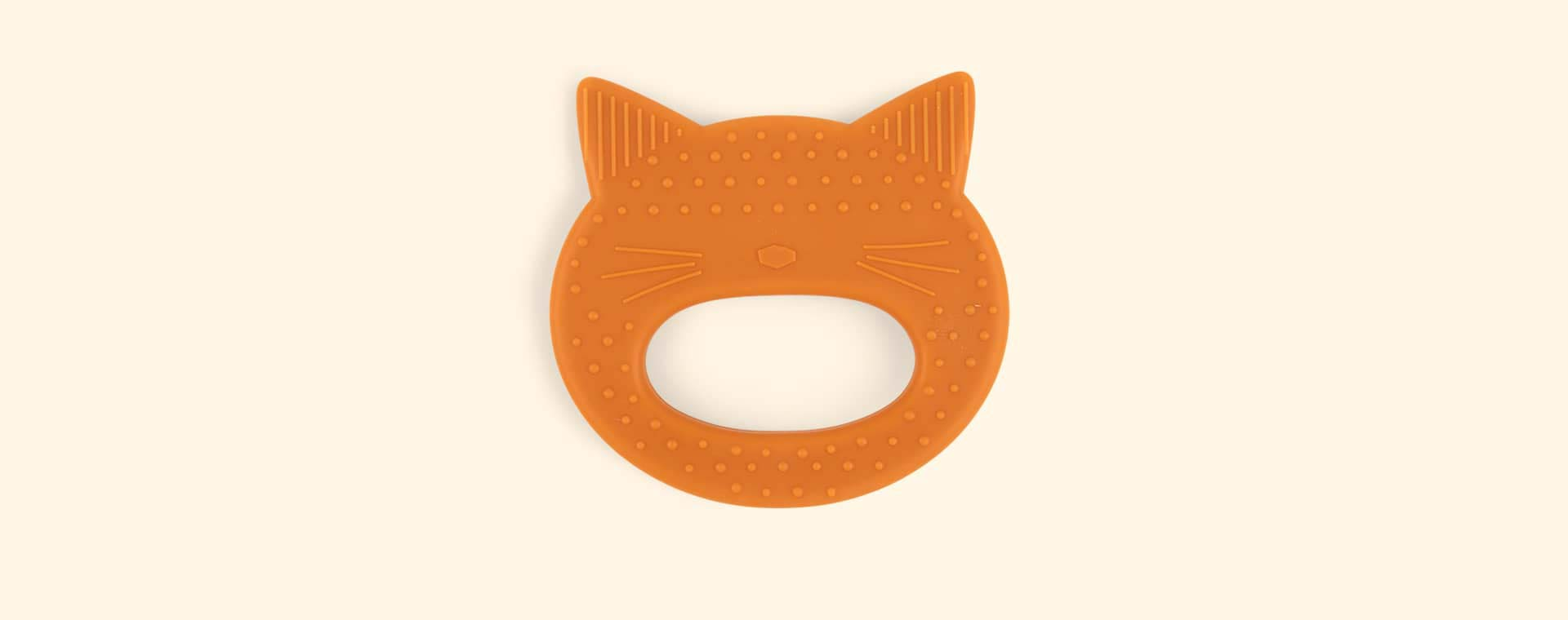 Cat Mustard Liewood Gemma Silicone Teether